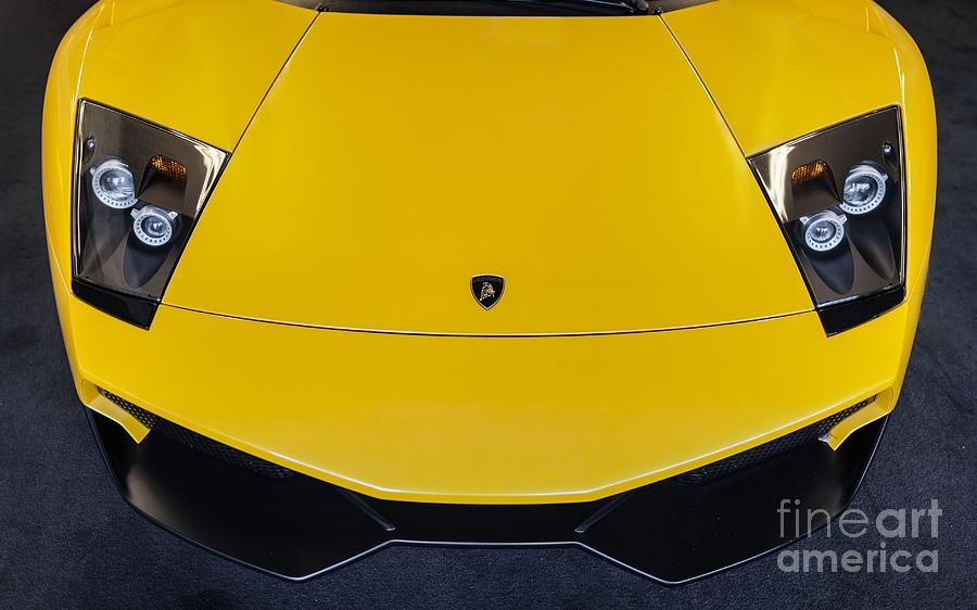 Lamborghini Murcielago Yellow Photograph By Mike Mccarville