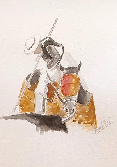 Lamina taurina 8 by Carlos Jose Barbieri