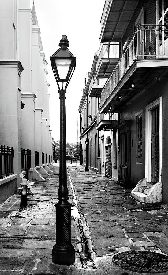 Lamp-post In Alley Photograph by Kiskamedia