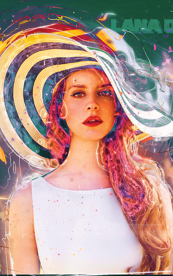 Lana Del Rey Colorful Drawing By Kelly Leaa