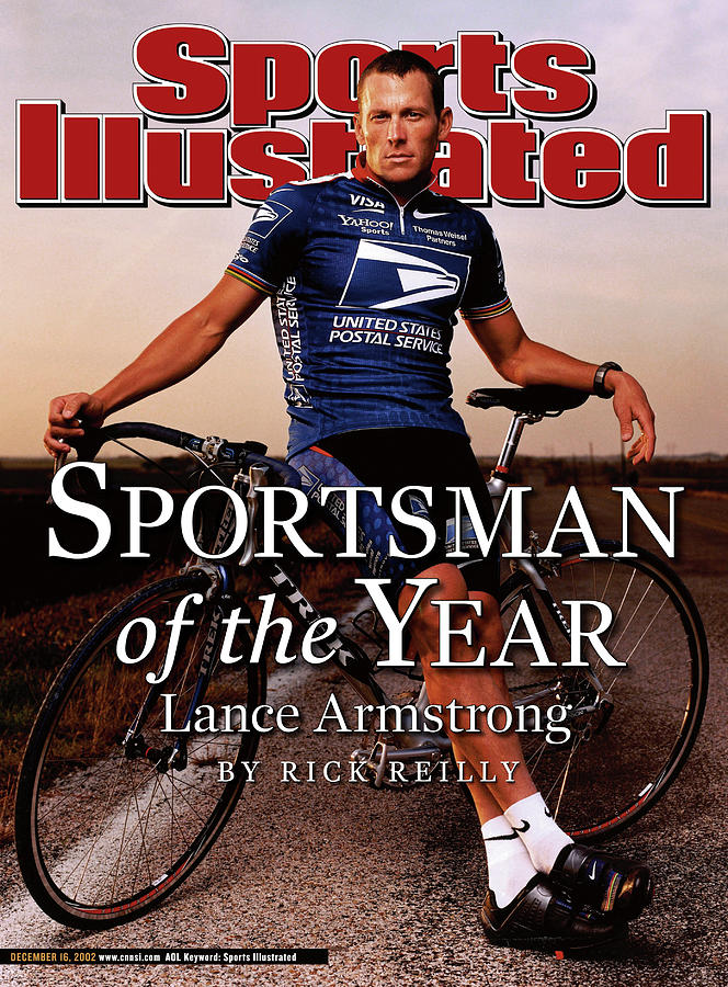 Lance Armstrong, 2002 Sportsman Of The Year Sports Illustrated Cover Photograph by Sports Illustrated