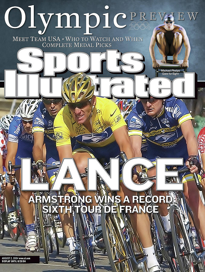 Lance Armstrong Wins A Record Sixth Tour De France Sports Illustrated Cover Photograph by Sports Illustrated