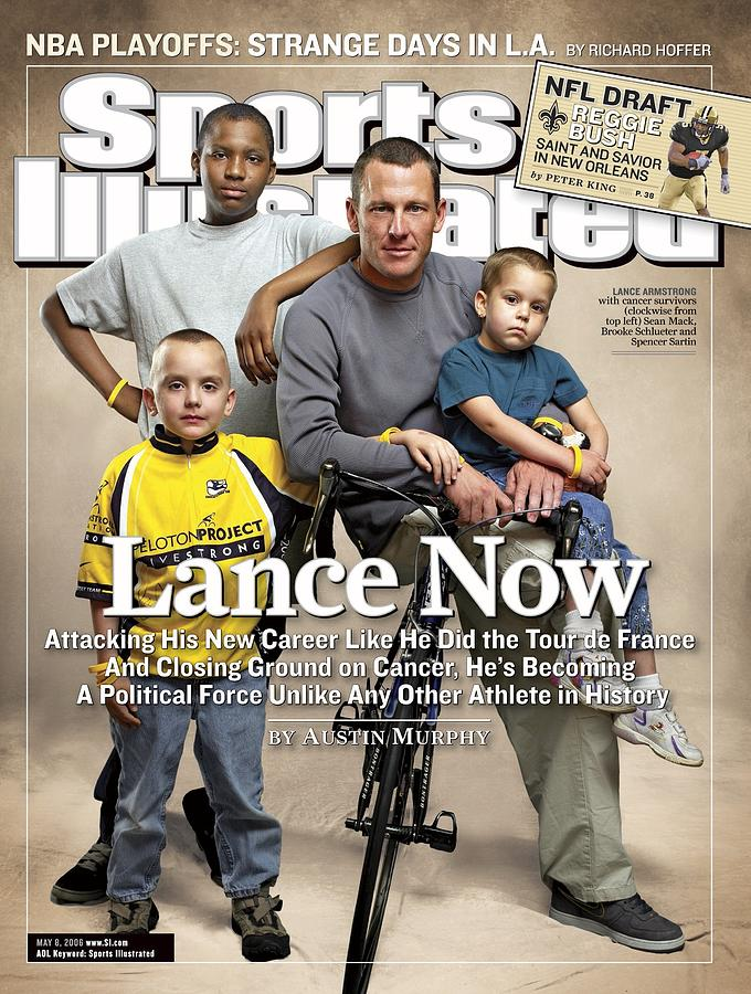 Lance Now Attacking His New Career Like He Did The Tour De Sports Illustrated Cover Photograph by Sports Illustrated
