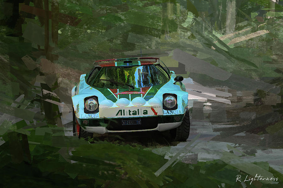 Lancia Stratos Rally car by Roger Lighterness