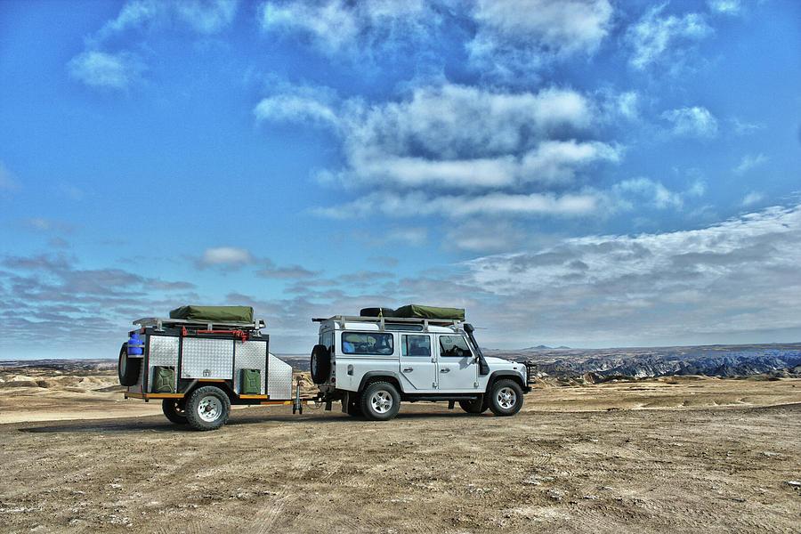 Land Rover Defender With Trailer Photograph by Jan Van der Westhuizen