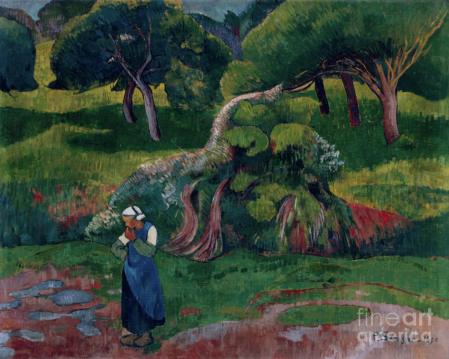 Landscape at Le Pouldu, 1890 by Paul Serusier