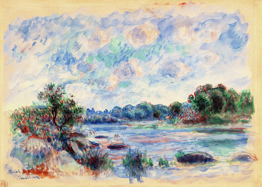 Pierre-auguste Renoir Painting - Landscape At Pont-aven - Digital Remastered Edition by Pierre-Auguste Renoir
