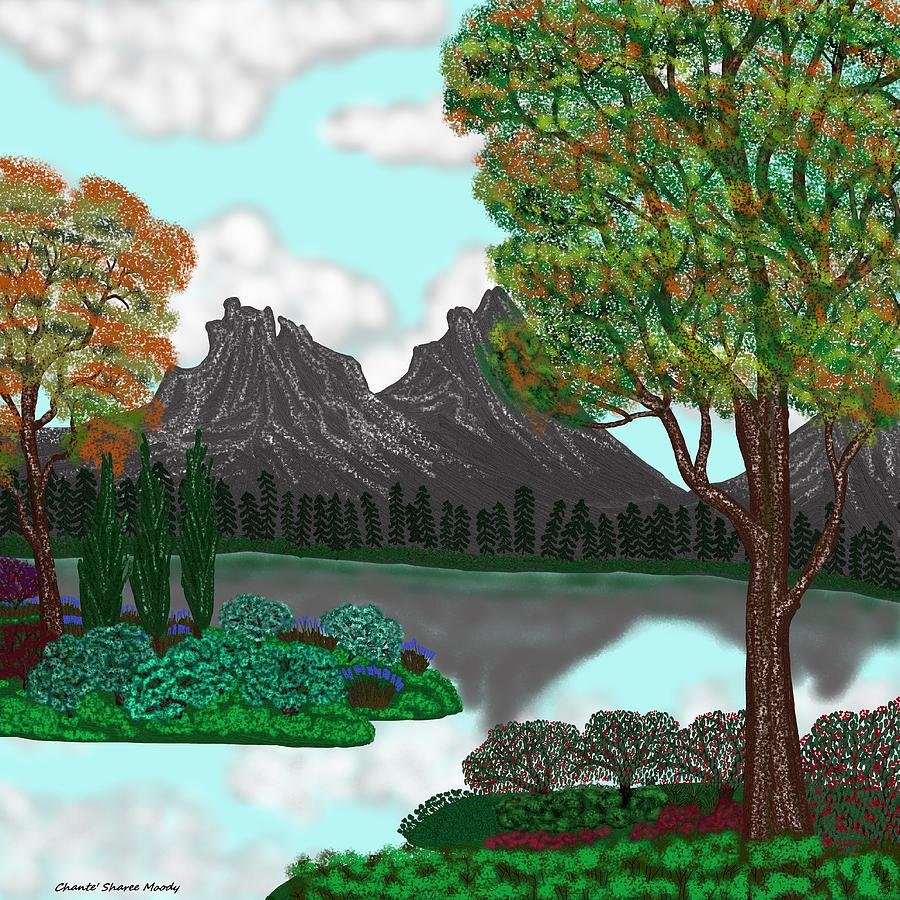 Landscape Digital Art - Landscape Attempt 5 by Chante Moody