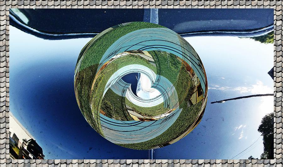 Landscape box little planet as art by Karl Rose