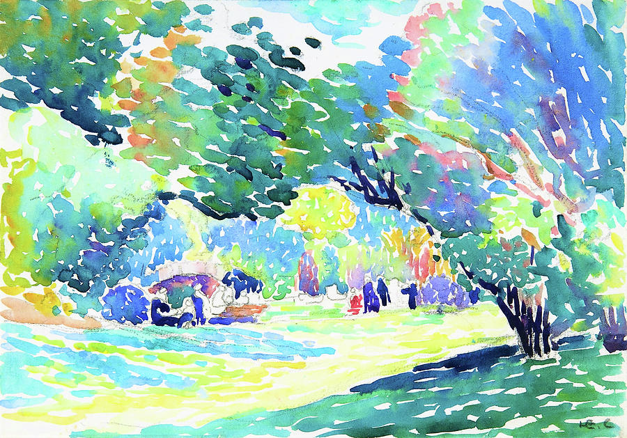 Henri Edmond Cross Painting - Landscape - Digital Remastered Edition by Henri Edmond Cross