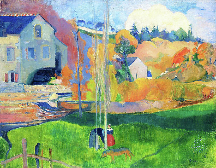 Paul Gauguin Painting - Landscape In Brittany. The David Mill - Digital Remastered Edition by Paul Gauguin