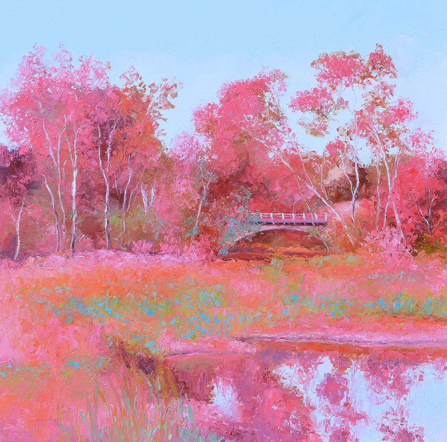 Landscape in pink by Jan Matson