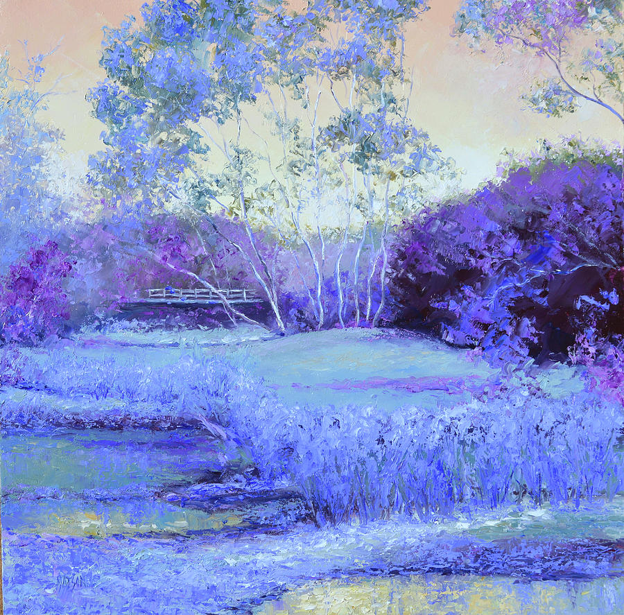 Landscape in purple and lavender by Jan Matson
