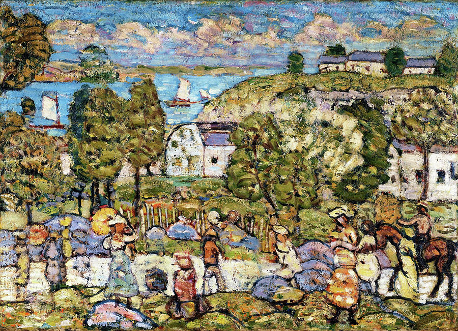 Usa Painting - Landscape Near Nahant - Digital Remastered Edition by Maurice Brazil Prendergast