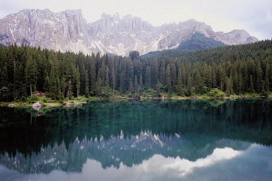 Landscape Of Carezza Lake And Latemar Photograph by Stefano Salvetti