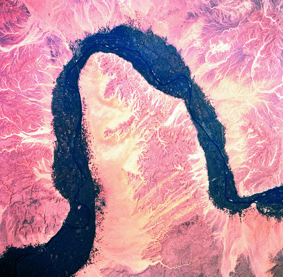 Landscape Of Earth Viewed From Space Photograph by Stockbyte