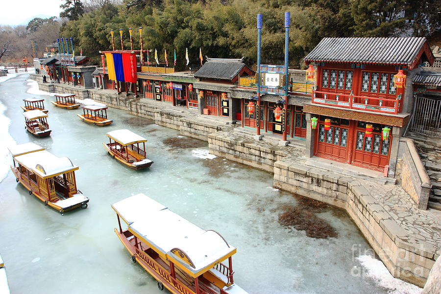 City Photograph - Landscape Of Summer Palace In Winter by Ifsea