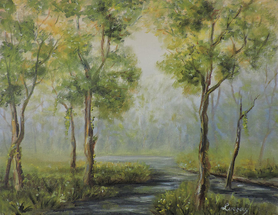 Landscape of the Great Swamp of New Jersey with pond by Katalin Luczay