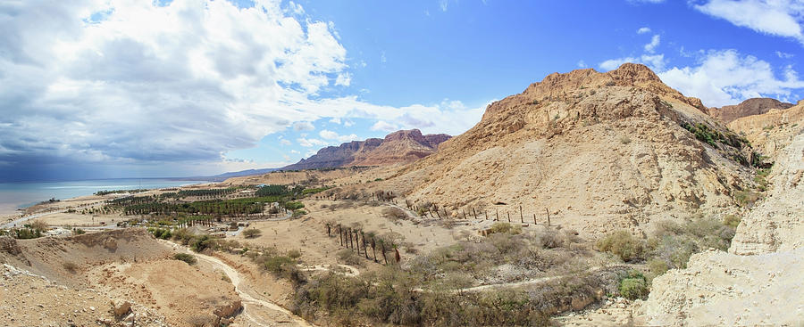 Landscape Of The Jordan Valley And The Photograph by Reynold Mainse / Design Pics