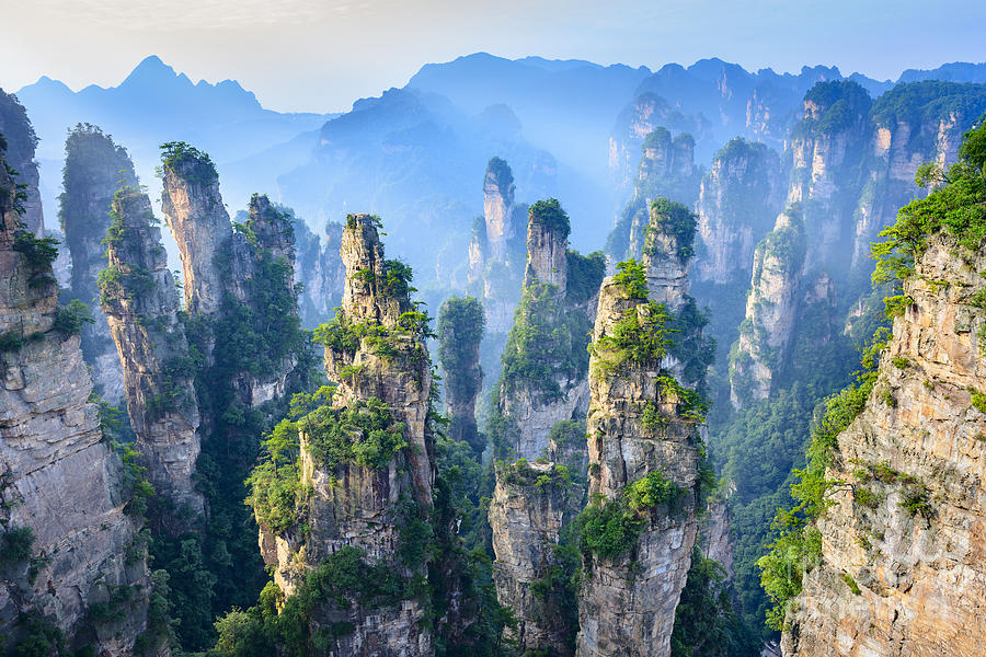 Administration Photograph - Landscape Of Zhangjiajie. Taken From by Aphotostory