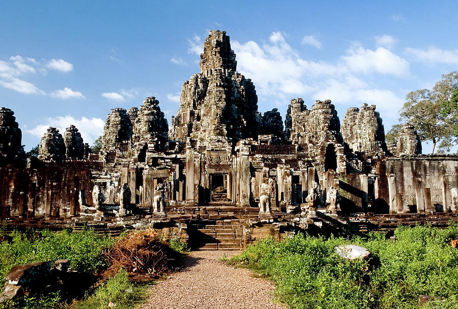 Landscape Photo Of Bayon Temple In Photograph by Laughingmango