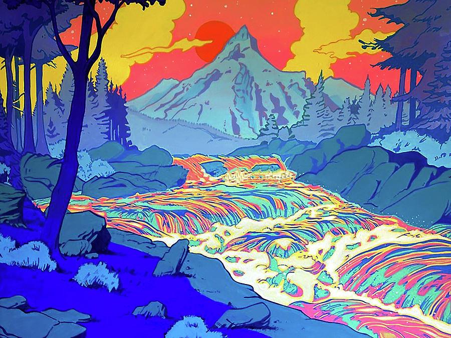 Landscape River Digital Art by Illidan Raven