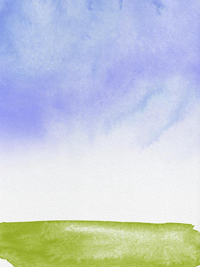 Landscape Painting - Landscape Watercolor by Naxart Studio
