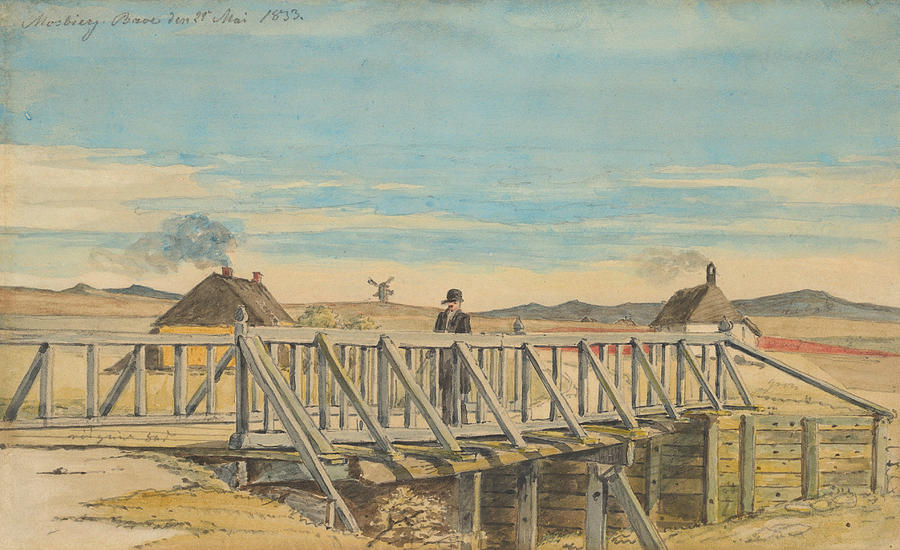 Landscape with a Bridge Near Mosbjerg by Martinus Rorbye