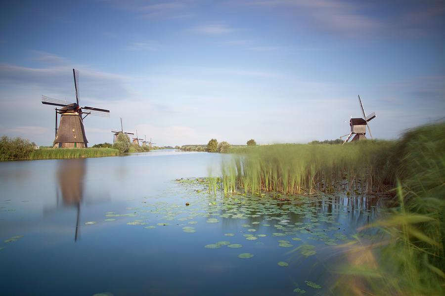 Landscape With Windmills, Kinderdijk Photograph by Frank De Luyck