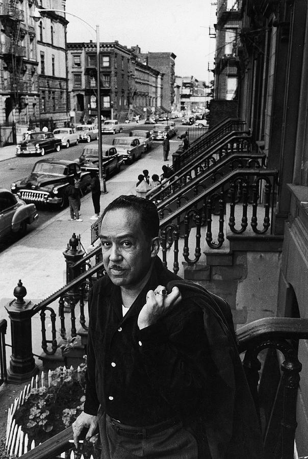Langston Hughes On The Stoop Photograph by Robert W. Kelley