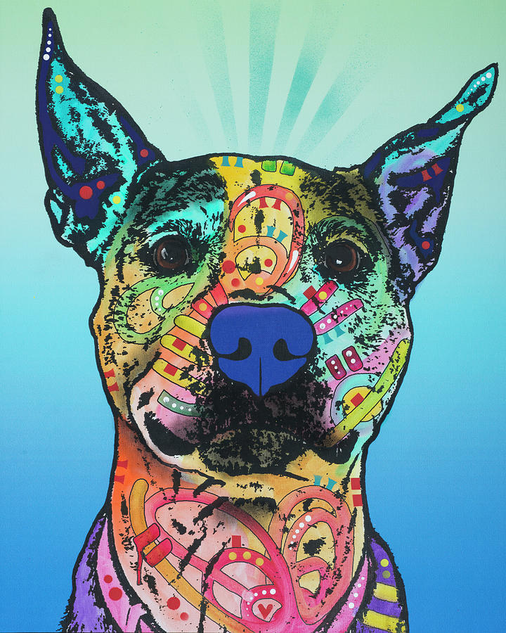 Domestic Dogs Mixed Media - Lani Ruth 25 by Dean Russo