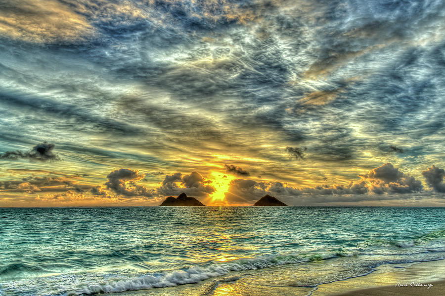 Lanikai Beach Sunrise 7 Oahu Hawaii Seascape Art by Reid Callaway
