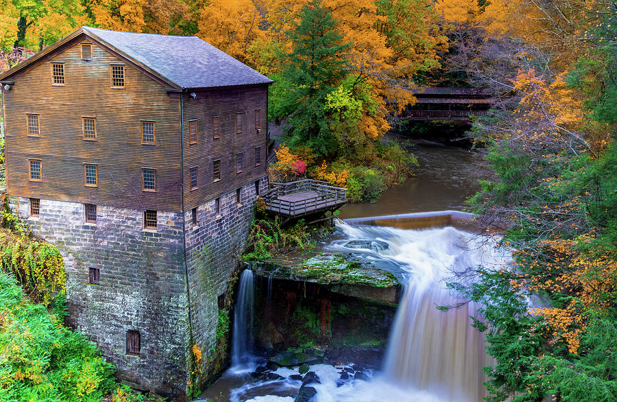 Lantermans Mill In Fall Photograph by RJ Stein Photography