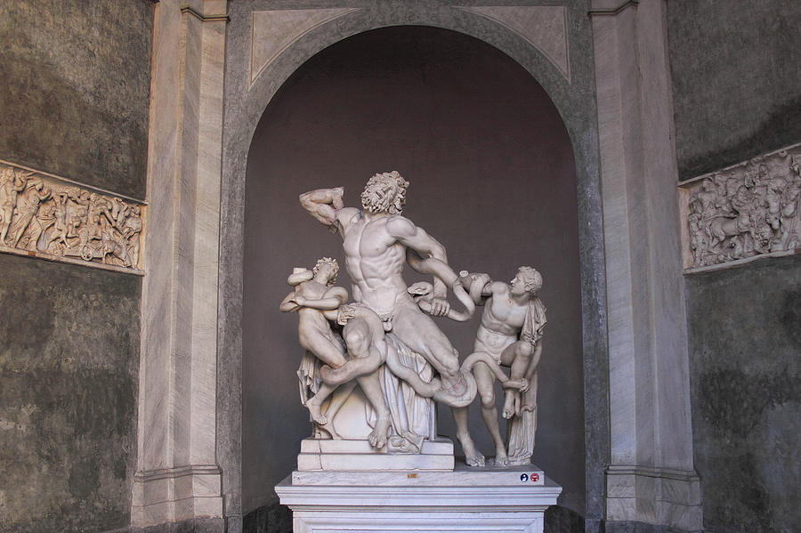 Laocoon Group at the Vatican Museum in Rome by Angela Rath