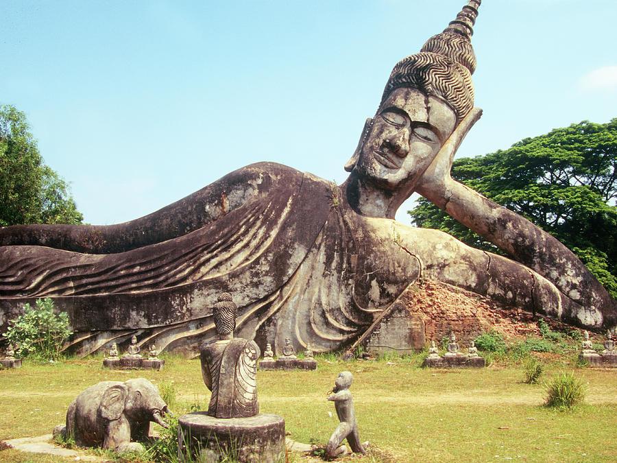 Laos Buddha Garden By C Paolodelpapa