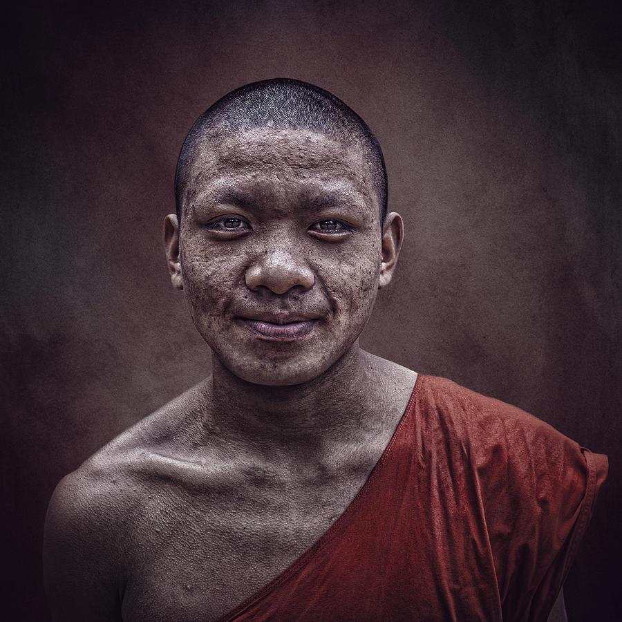 Vietnam Photograph - Laos Monk by Svetlin Yosifov