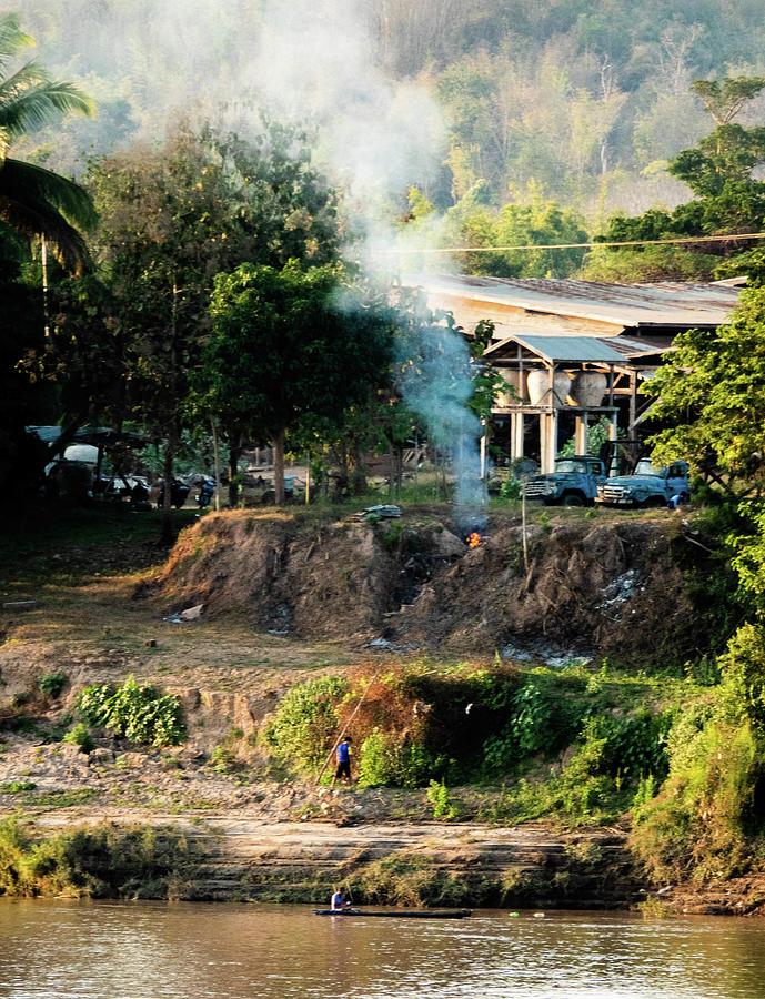Laos riverside scene  by Jeremy Holton