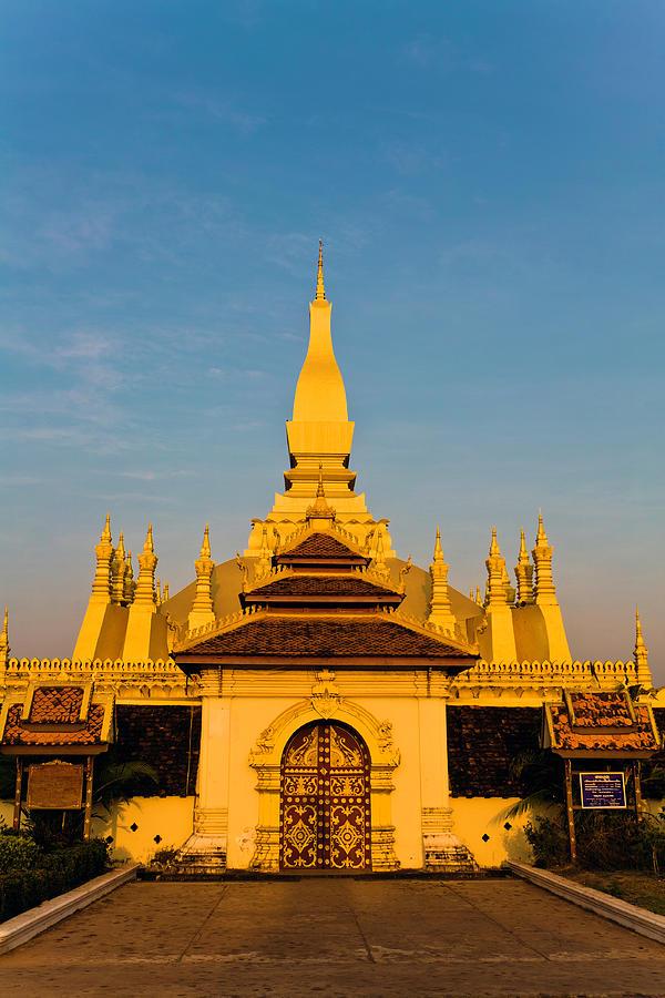 Laos, Vientiane, Pha That Luang Photograph by John Seaton Callahan
