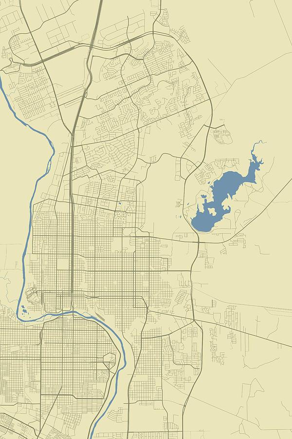 Map Of Texas Laredo.Laredo Texas Usa Classic Map By Jurq Studio