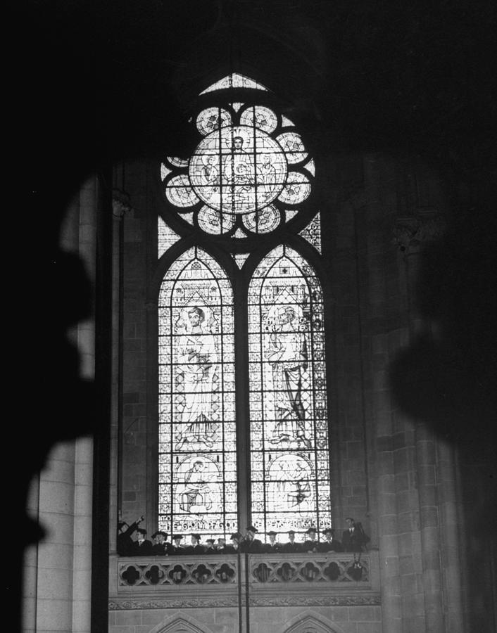 Large Stained Glass Window Of St. John T Photograph by Cornell Capa