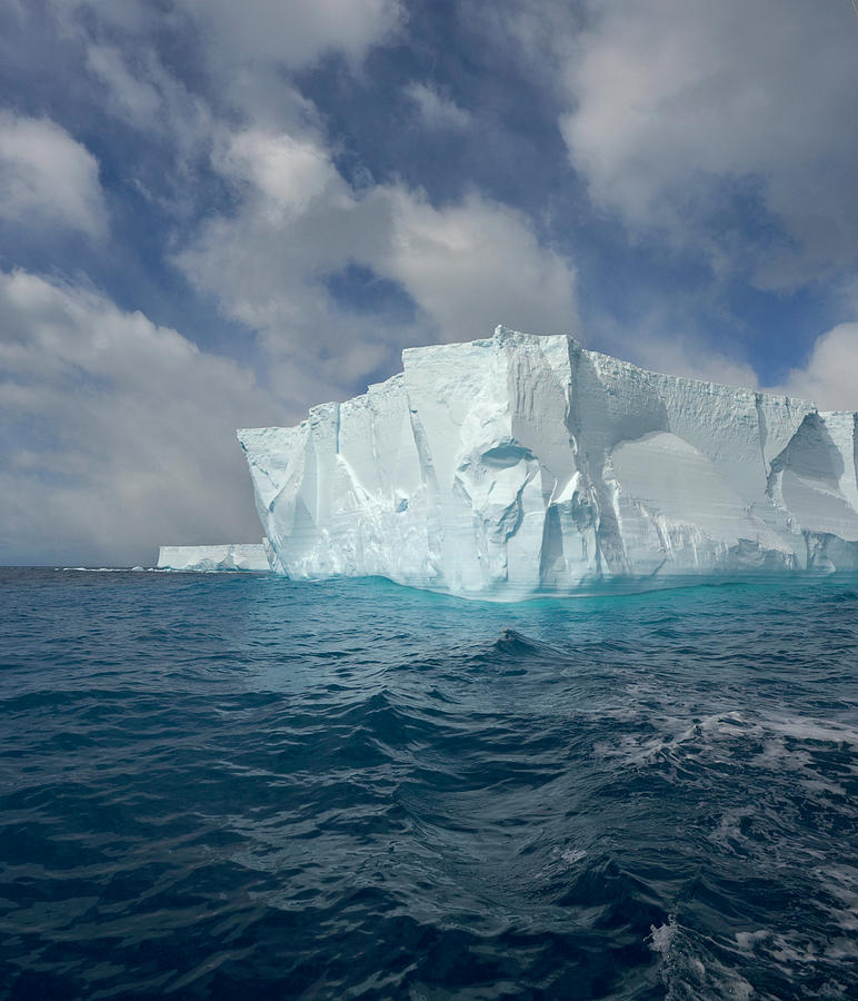 Large Tabular Iceberg And Great Cumulus Photograph by Eastcott Momatiuk