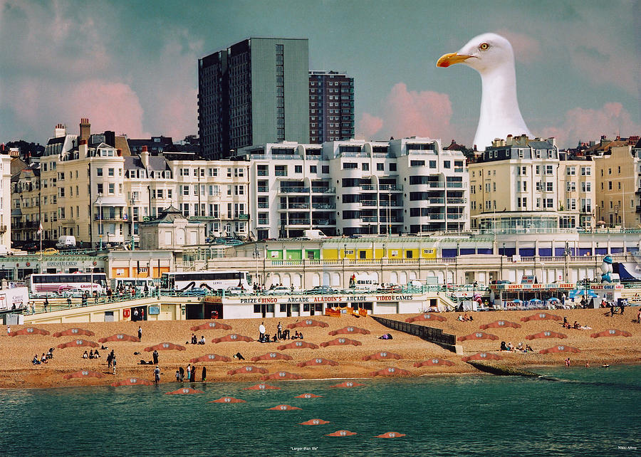 Seagulls Digital Art - Larger Than Life by Nikki Attree