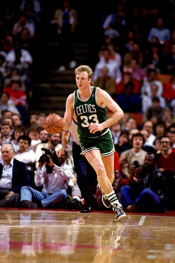 Basketball Player Photograph - Larry Bird Drives by Bill Baptist