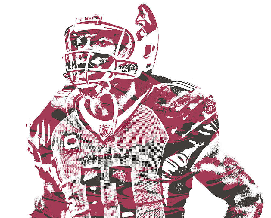 d2919521 Larry Fitzgerald Arizona Cardinals Pixel Art 25 by Joe Hamilton