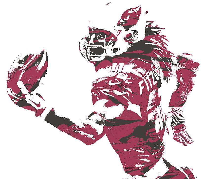 Larry Fitzgerald Arizona Cardinals Pixel Art 27