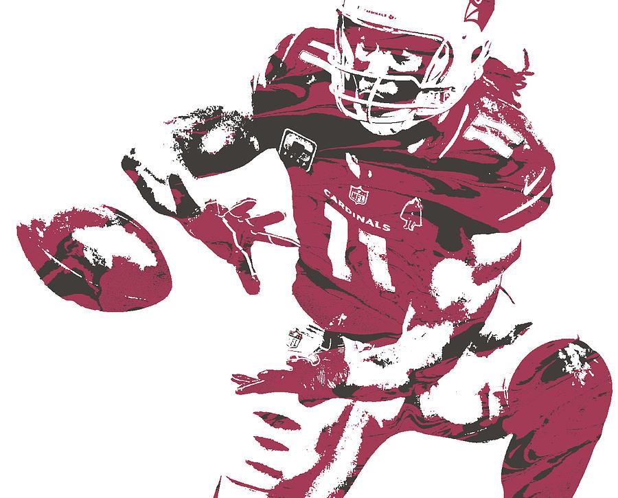 eaebd3bd Larry Fitzgerald Arizona Cardinals Pixel Art 28 by Joe Hamilton