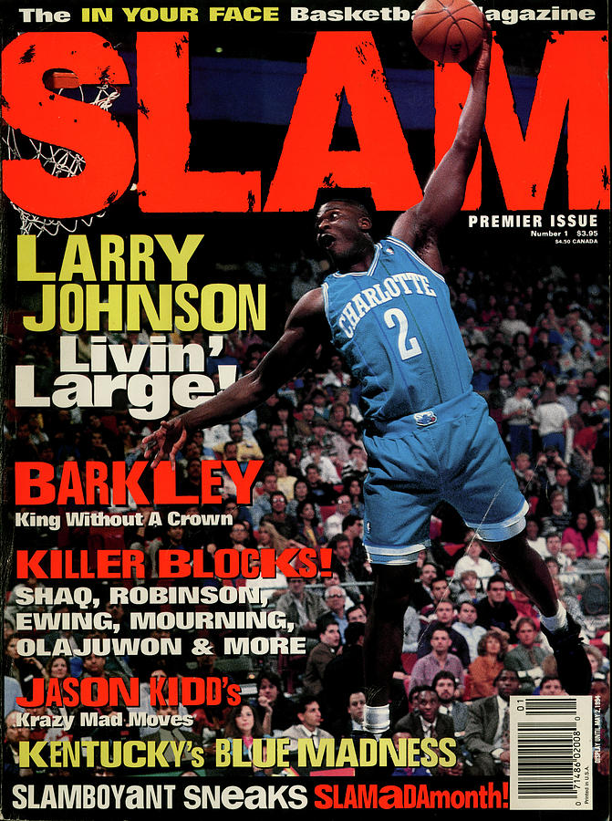 Larry Johnson: Livin Large SLAM Cover Photograph by Getty Images