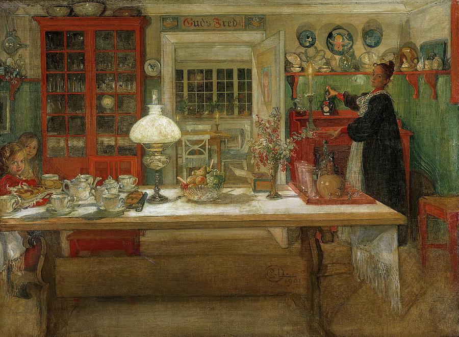 Larsson: Game, 1901 by Carl Larsson