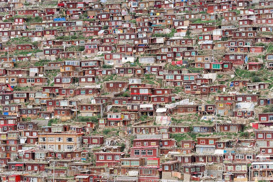 Tourism Photograph - Larung Gar Five Sciences Buddhist by Kit chow
