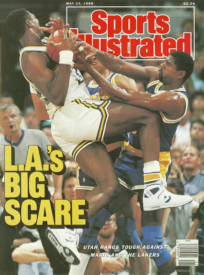 L.a.s Big Scare Utah Hangs Tough Against Magic And The Sports Illustrated Cover Photograph by Sports Illustrated